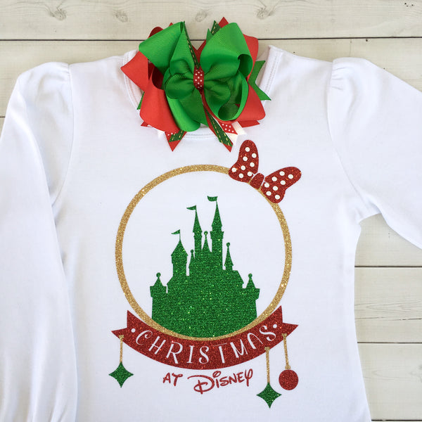Jolly Christmas at Castle Glitter SHIRT ONLY (Adult)