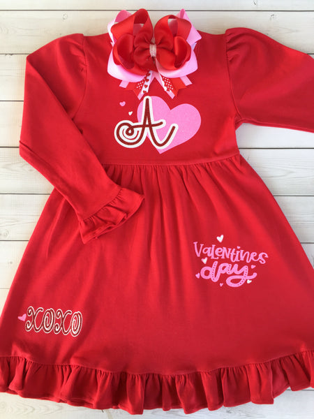 Red Valentine's Day Dress for Girls