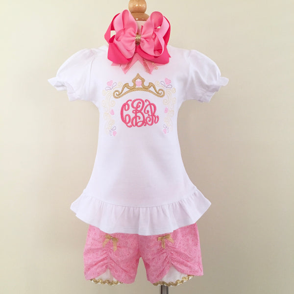 Sleepy Beauty Princess Embroidered Frame Peek-a-Boo Shortie Set™