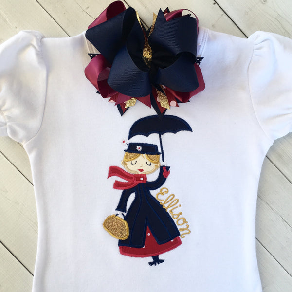 Miss Poppins Embroidered SHIRT ONLY