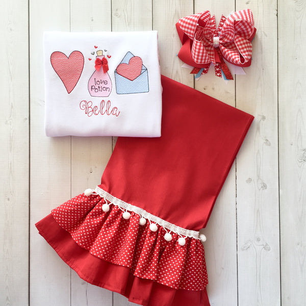 Love Potion Double Ruffle Pant Set