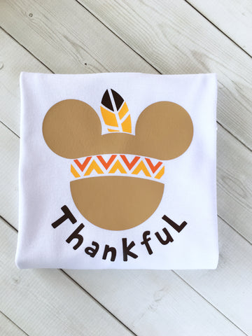 Thanksgiving Boy Mouse Ears Shirt ONLY