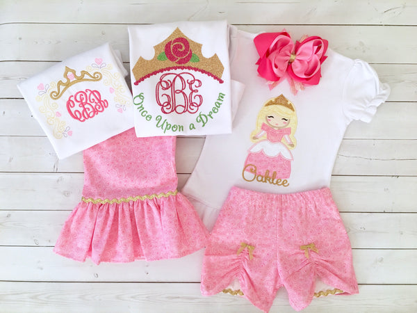 Sleepy Beauty Embroidered Princess SHIRT ONLY