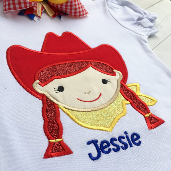 Toy Story Inspired Embroidered Jessie SHIRT ONLY