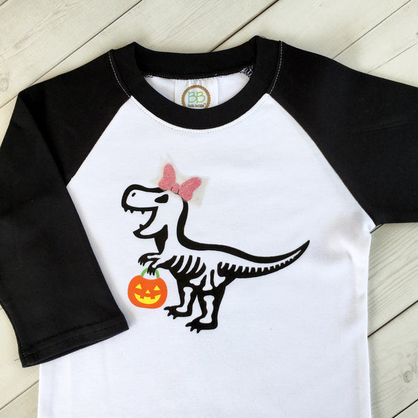 Trick-Or-Treat T-Rex Boys Shirt Only