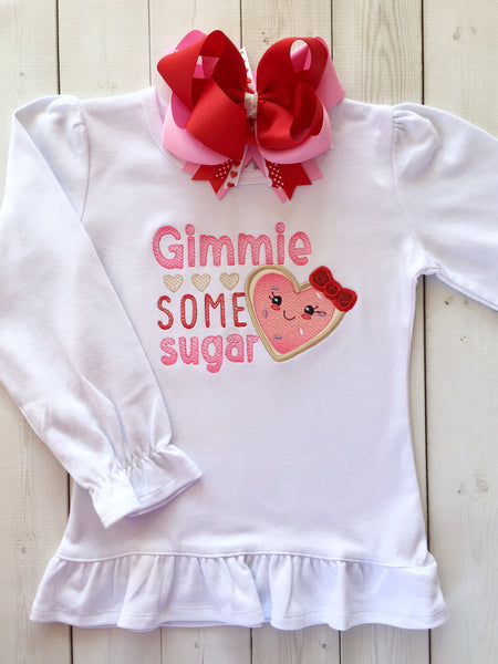 Gimme Some Sugar Embroidered GIRL Shirt Only
