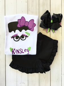 To Be Frank Girls Ruffle Shortie (or Pants!) Set