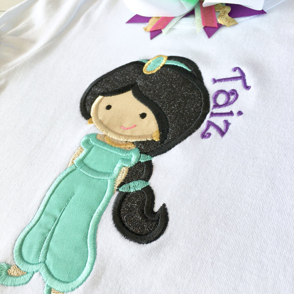 Princess Jasmine Inspired Embroidered SHIRT ONLY