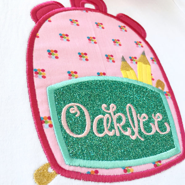 Smart & Sassy Embroidered Backpack Peek-A-Boo Short Set
