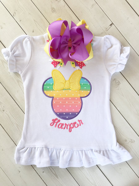 Rainbow Sherbet Mouse Peek-a-Boo Shortie Set