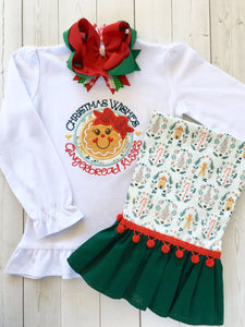 Gingerbread Kisses Single Ruffle Pant Set
