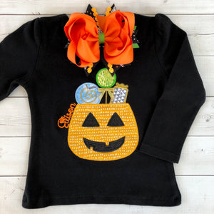 "Halloween Pennants -Embroidered Classic Candy Shirt ""ONLY"""