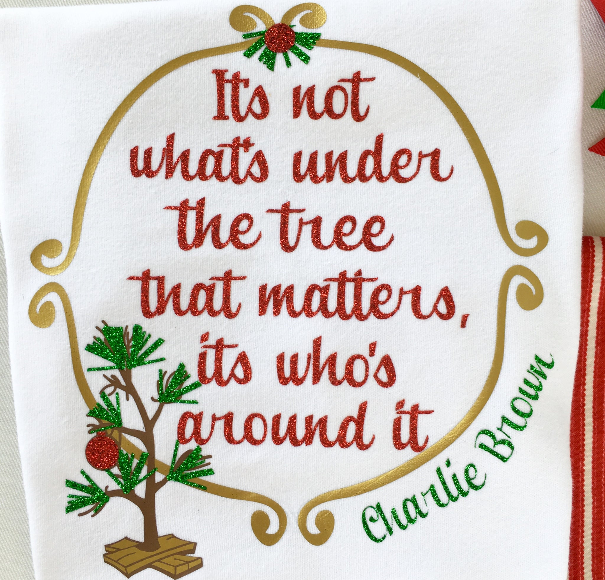Charlie's Tree Glitter SHIRT ONLY