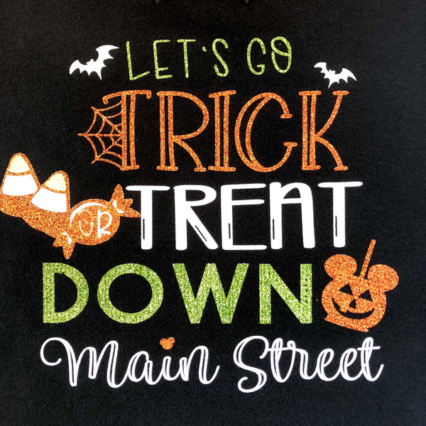 Halloween Pennants-Trick or Treat Down Main Street Glitter Double Ruffle Pant Set