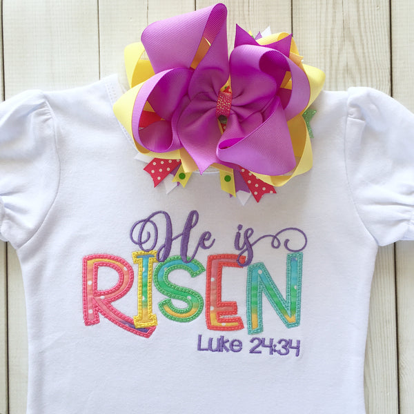 He Is Risen Embroidered Shirt ONLY