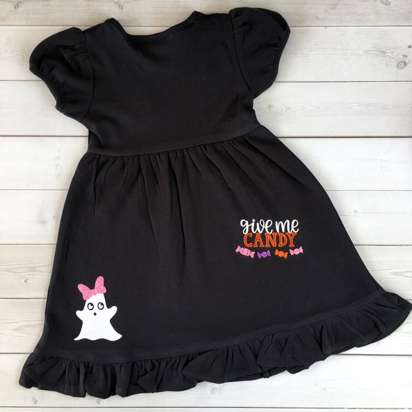 Tricks and Treats Girls Glitter Halloween Dress