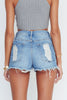 Signature 8 Destroyed high waisted shorts