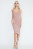 May Pink slit dress