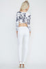 W by: Wenjie Flower Printed Crop Top