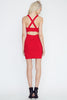 Sole Mio Body-Con Dress-Red