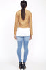 Suede look biker jacket