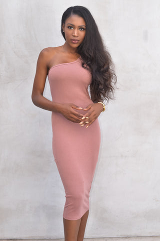 One shoulder body-con dress