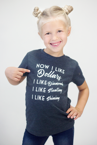 I Like Dollars I Like Diamonds I Like Stuntin' I Like Shinin Cardi B Kids Graphic Tee