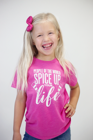 People of the world spice up your life, spice girls kids graphic tee