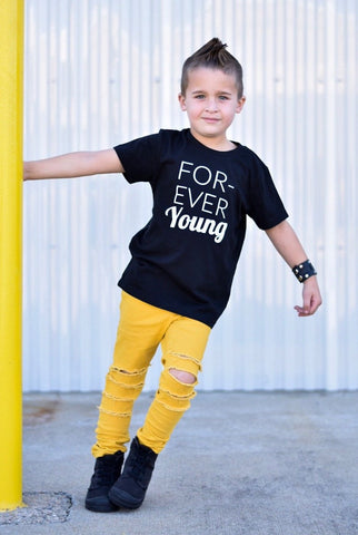 Forever_Young_Kids_Trendy_Urban_Cool_Graphic_Tee