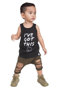 I've Got This Fist Bump Trendy Cool Urban Kids Graphic tank top