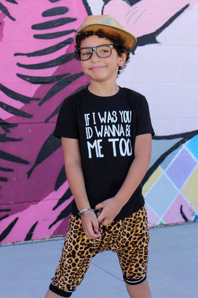 If_I_Was_You_Id_Wanna_Be_Me_Too_Cool_Trendy_Urban_Kids_Graphic_Tee