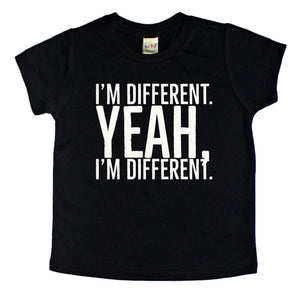 Im_Different_Yeah_Im_Different_Trendy_Cool_Kids_Graphic_Tee
