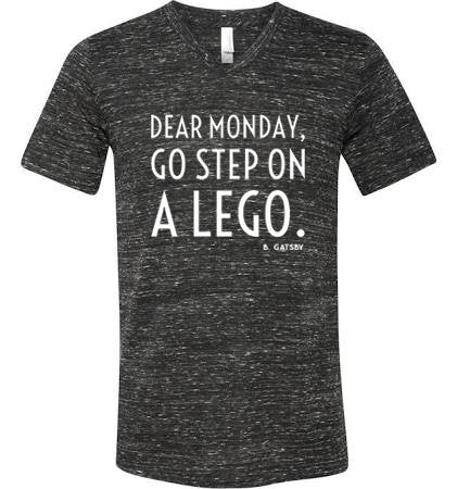 Dear Monday, Go Step On A Lego - short sleeve tee