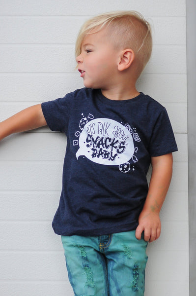 Let's Talk About Snacks, Baby kids graphic tee