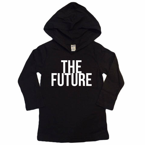 The Future - long sleeve hooded tee