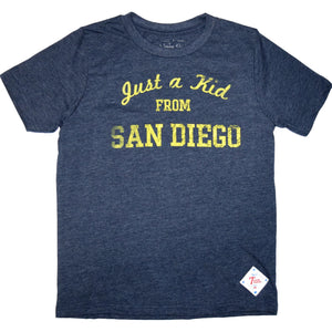 """Just a kid from San Diego"" kids tee"