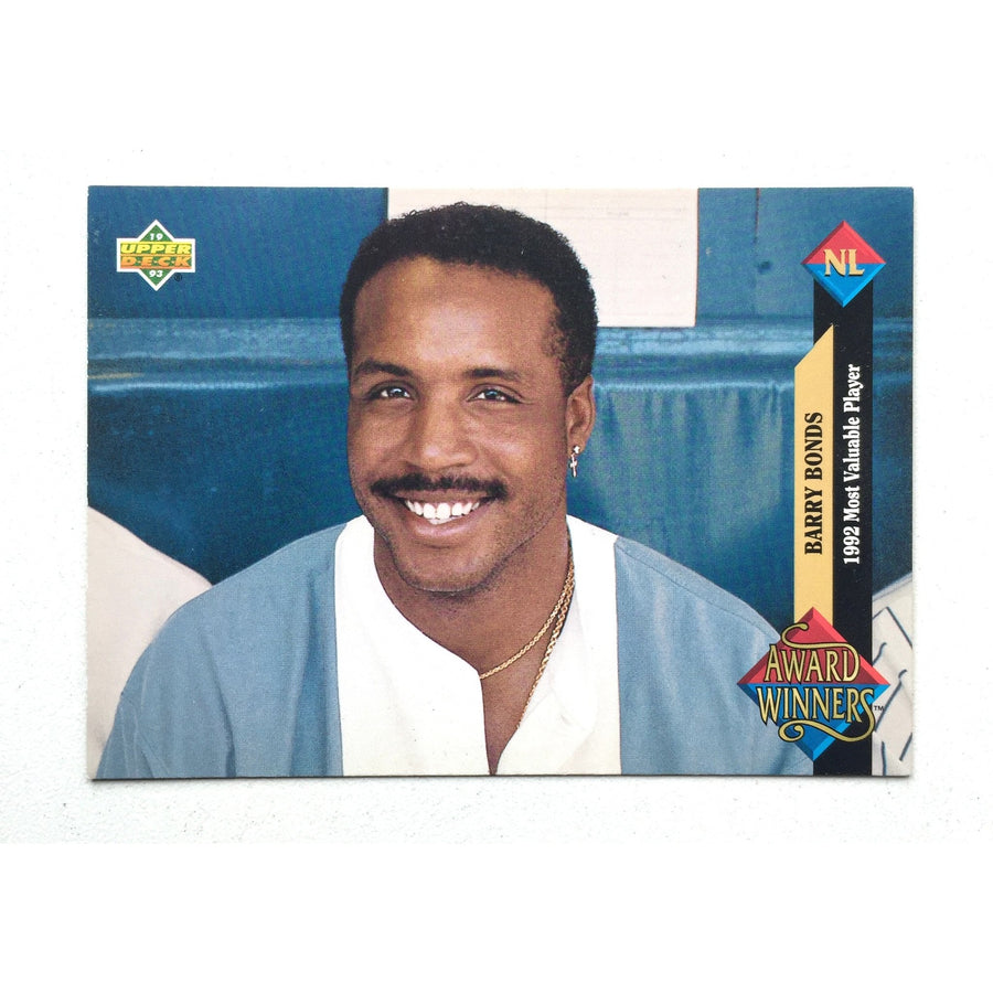 Barry Bonds 1992 Rated Rookie Fleer card