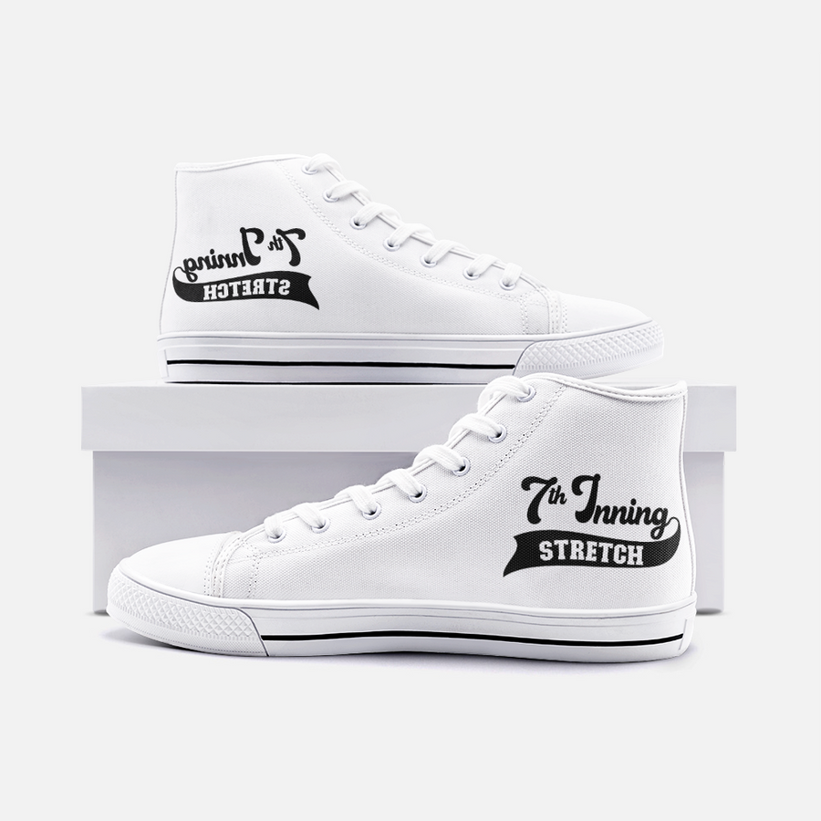 7th inning stretch High Top Canvas Shoes
