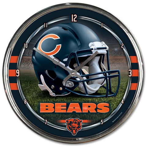 "Chicago Bears 12"" Chrome Wall Clock (OUT OF STOCK)"