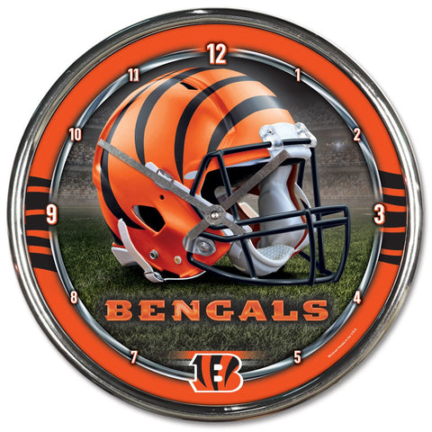 "Cincinnati Bengals 12"" Chrome Wall Clock"