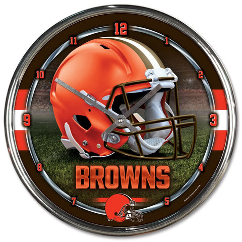 "Cleveland Browns 12"" Chrome Wall Clock"
