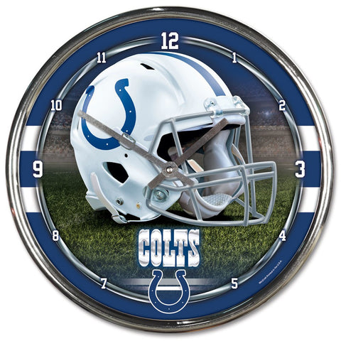 "Indianapolis Colts 12"" Chrome Wall Clock"