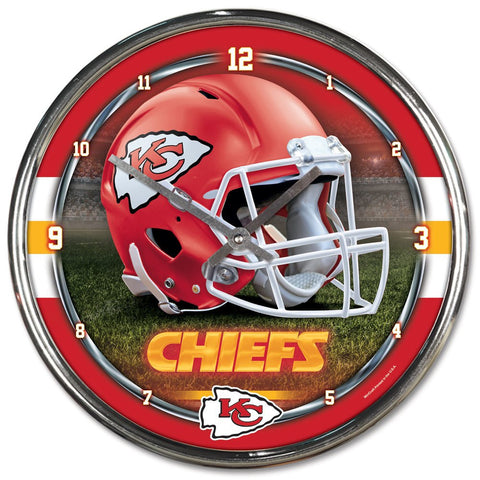 "Kansas City Chiefs 12"" Chrome Wall Clock"