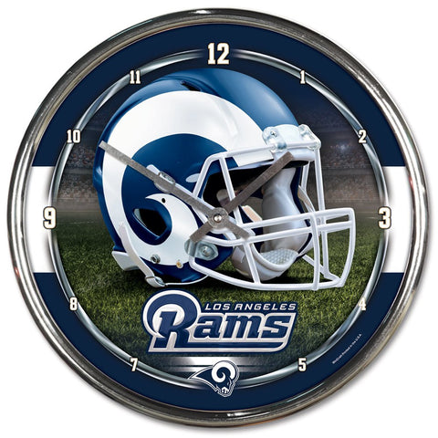 "Los Angeles Rams 12"" Chrome Wall Clock"