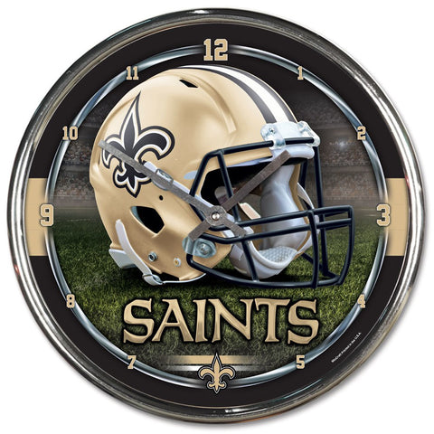 "New Orleans Saints 12"" Chrome Wall Clock"