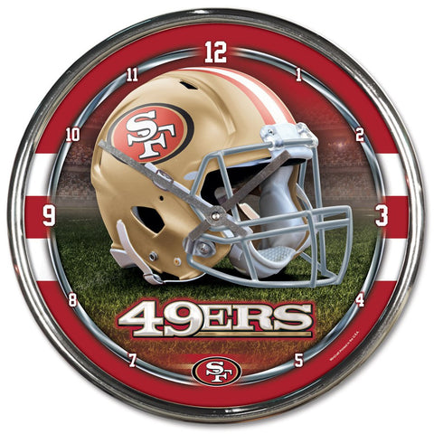 "San Francisco 49ers 12"" Chrome Wall Clock"