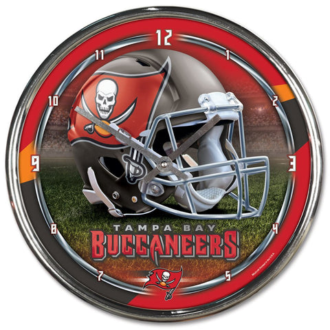 "Tampa Bay Buccaneers 12"" Chrome Wall Clock"