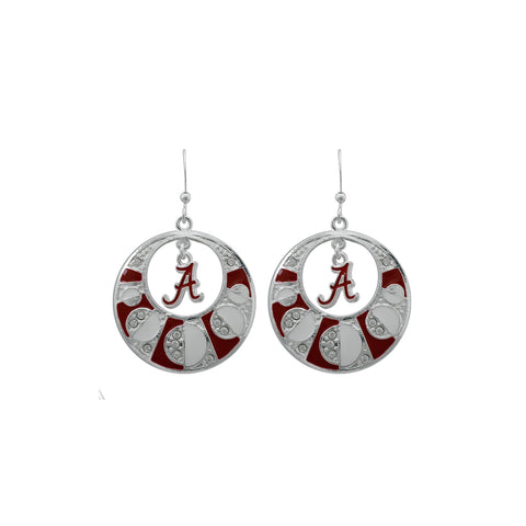 Alabama Roll Tide Rhinestone Earrings