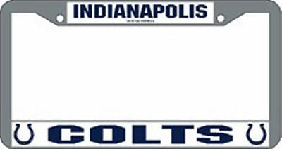 Indianapolis Colts Chrome Auto Tag Frame