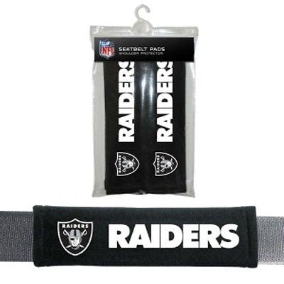 Oakland Raiders Seat Belt Pads
